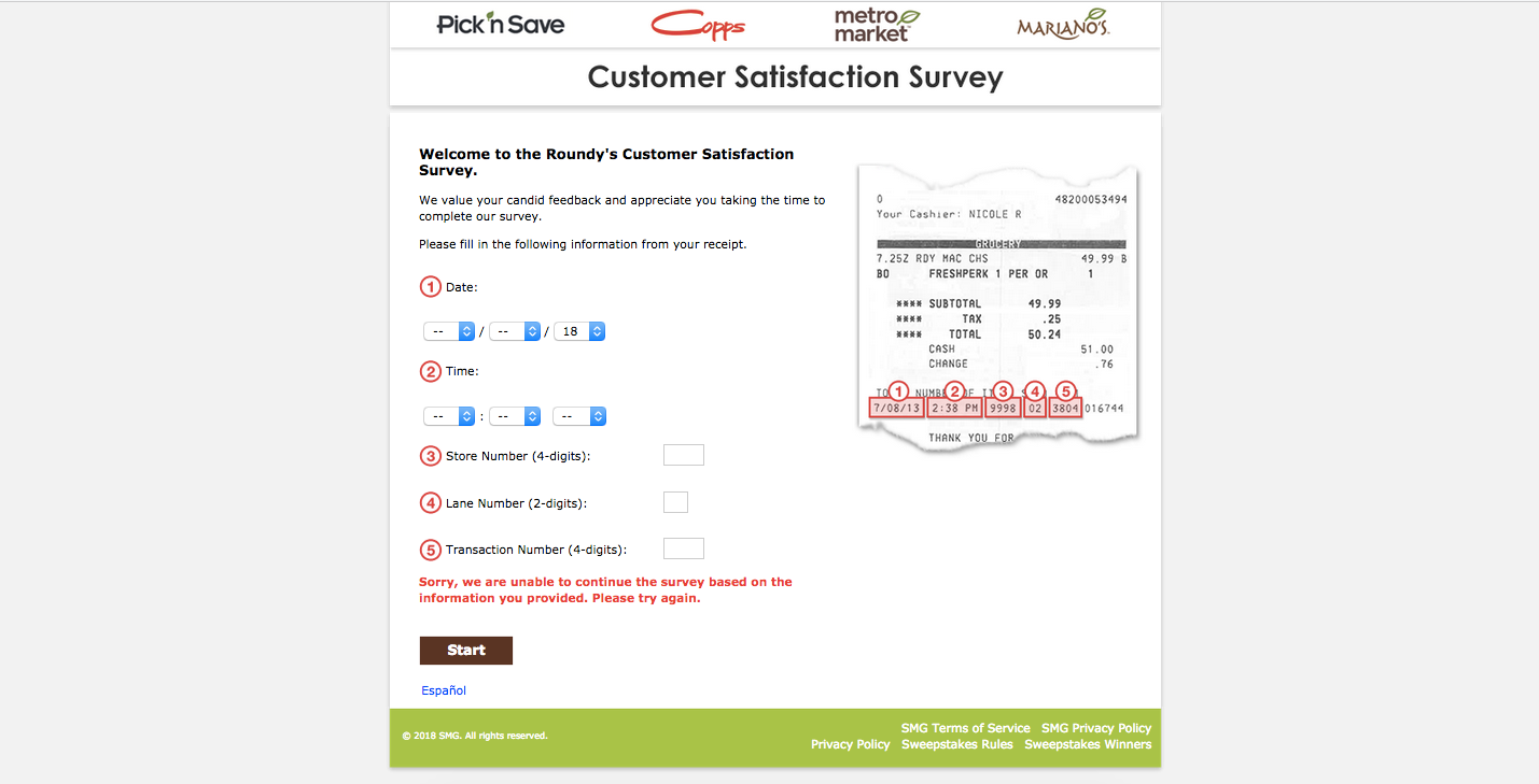 Copps Customer Satisfaction Survey