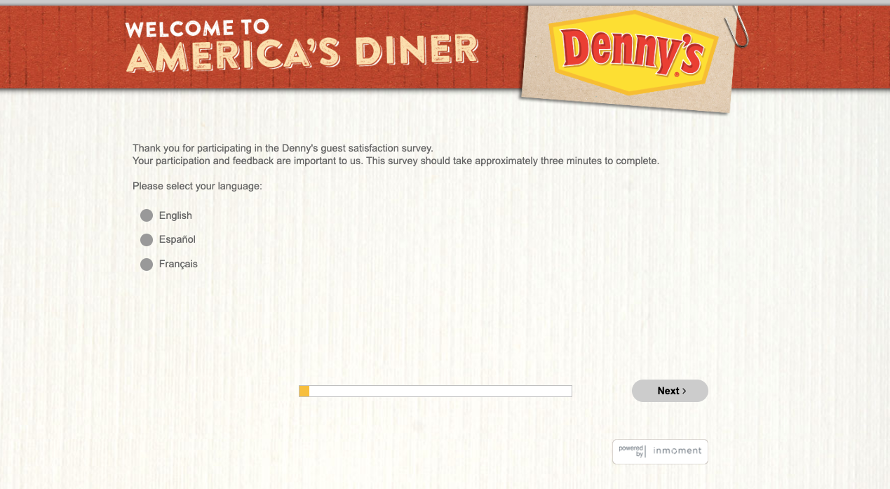 Denny's Customer Satisfaction Survey