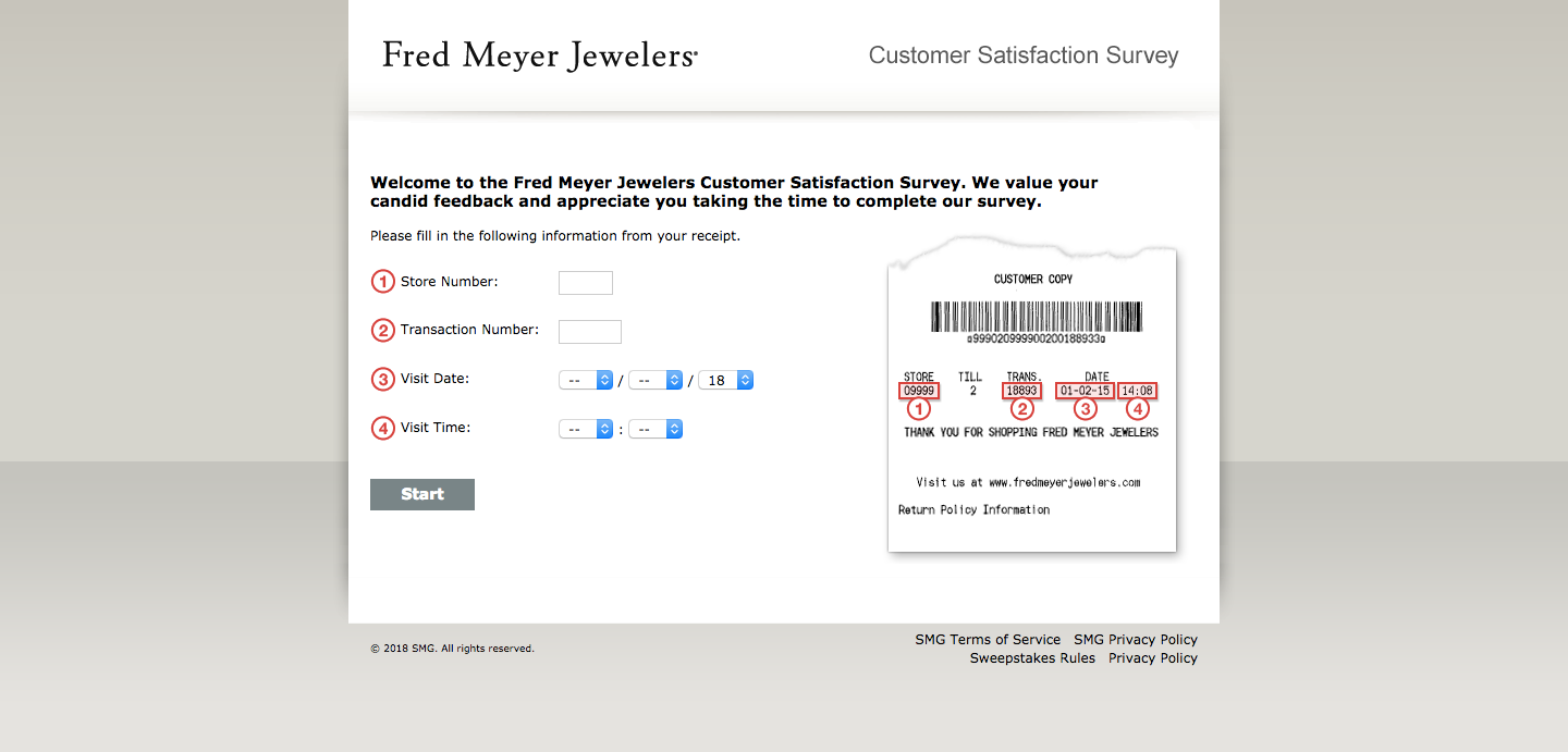 Fred Meyer Jewelers Customer Feedback Survey
