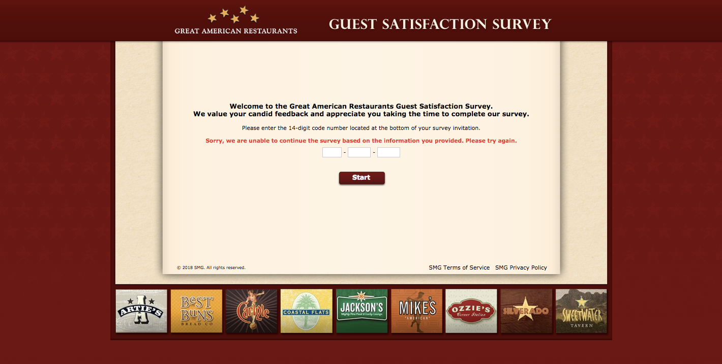 Great American Restaurants Survey
