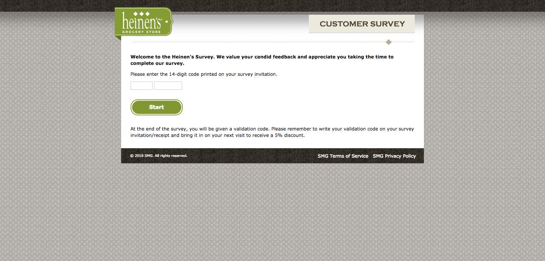 Heinen's Customer Satisfaction Survey