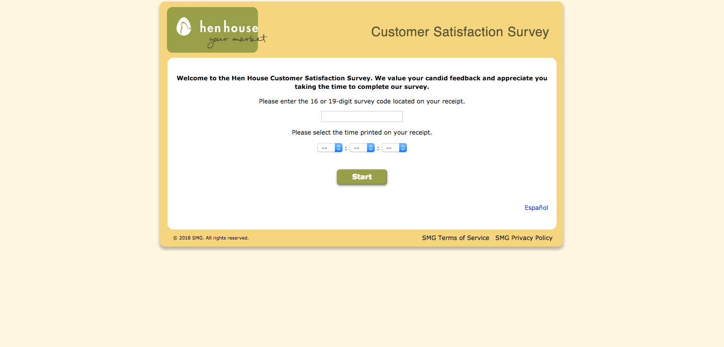 Hen House Market Customer Satisfaction Survey