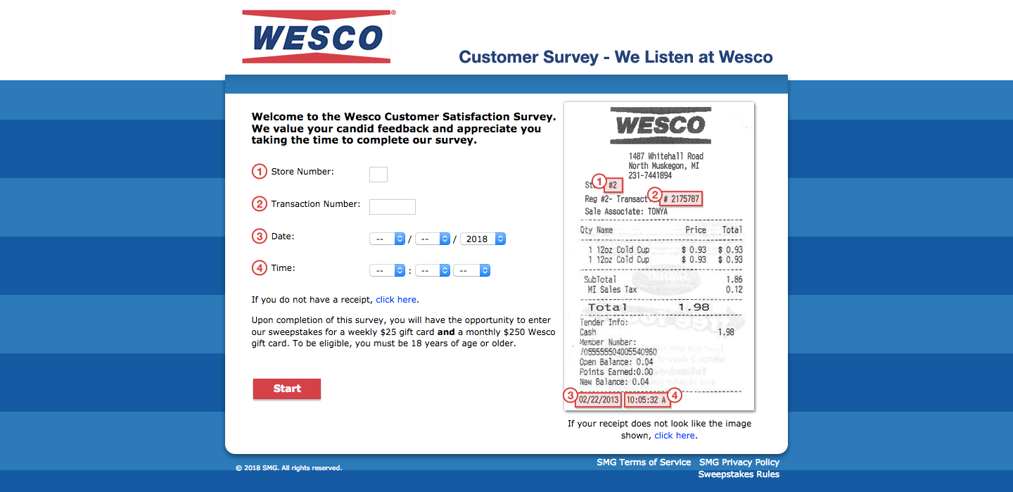 Wesco Customer Survey