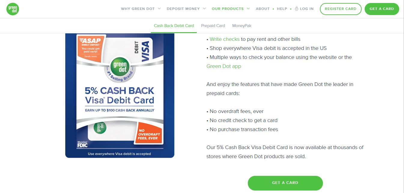 www.greendot.com/cashback - Apply For Green Dot Cash Back Visa