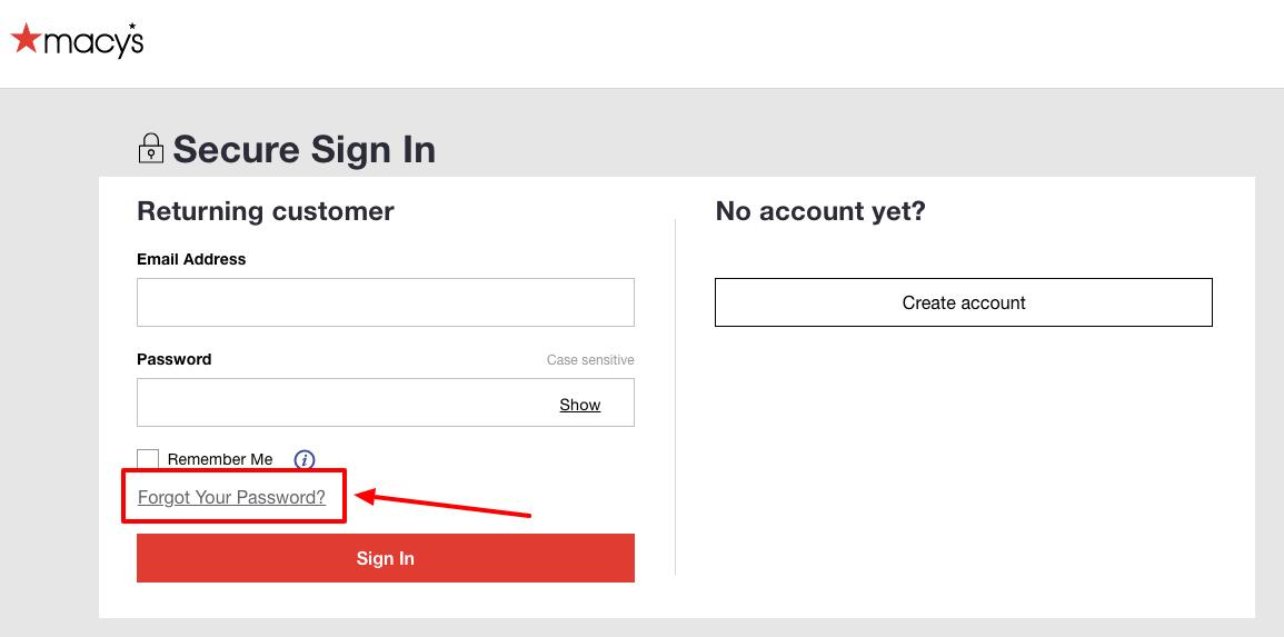 macy's registry signin