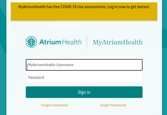 MyAtriumHealth Login
